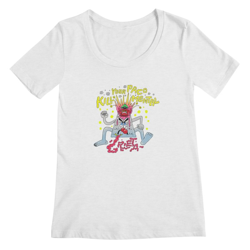 kill your mental police Women's Scoop Neck by PEIPER's Artist Shop