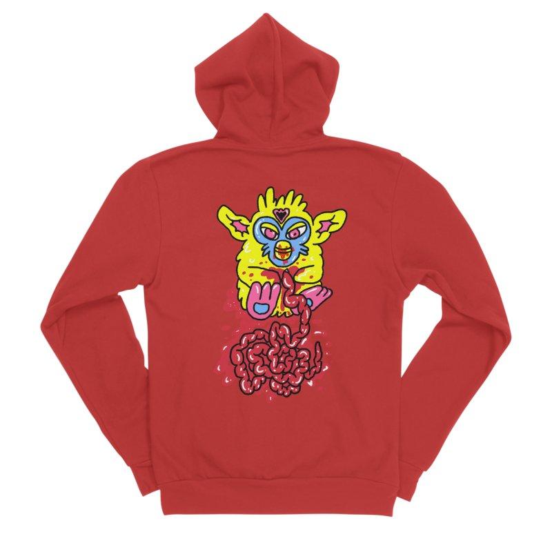 poor furby Women's Sponge Fleece Zip-Up Hoody by PEIPER's Artist Shop
