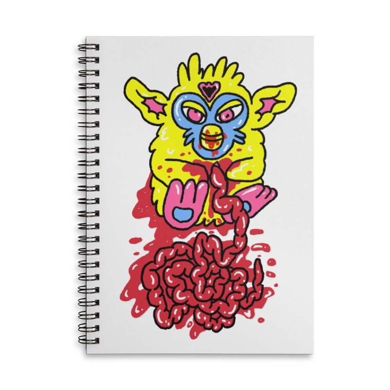 poor furby Accessories Lined Spiral Notebook by PEIPER's Artist Shop
