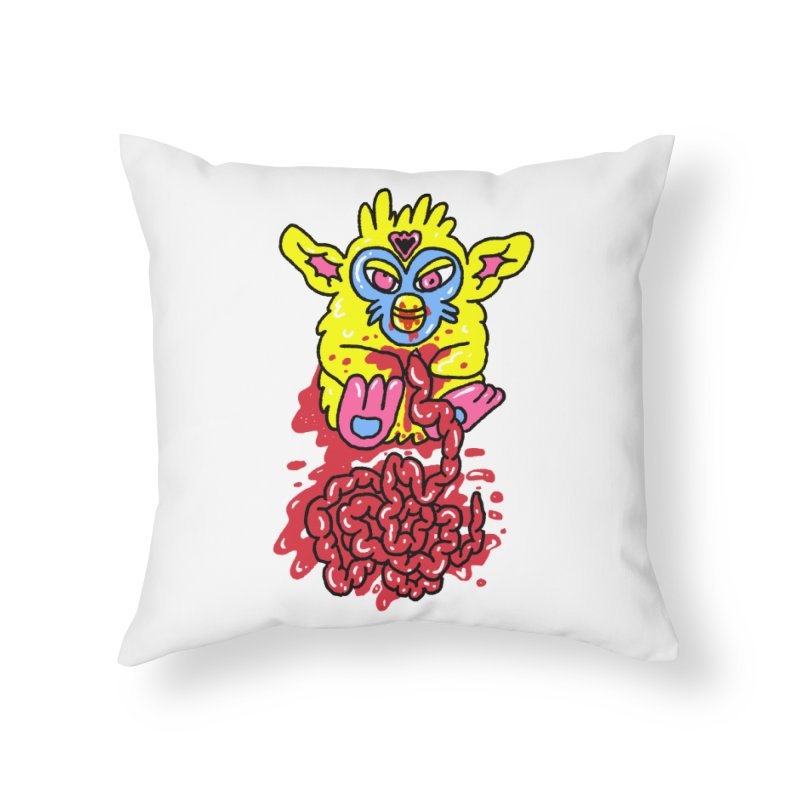poor furby Home Throw Pillow by PEIPER's Artist Shop