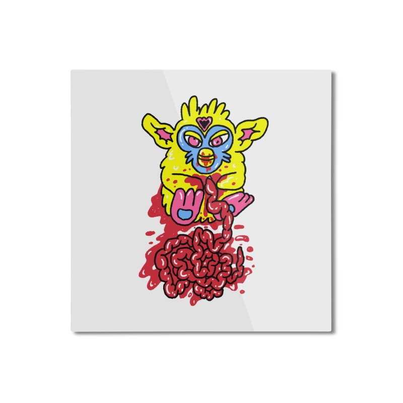 poor furby Home Mounted Aluminum Print by PEIPER's Artist Shop