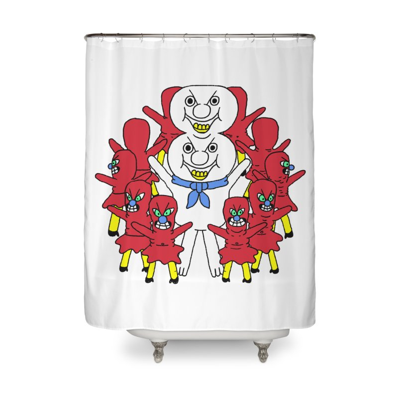 muntant girl gang Home Shower Curtain by PEIPER's Artist Shop