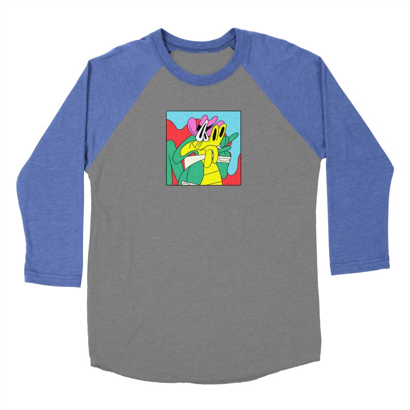 lagarto juancho Men's Baseball Triblend Longsleeve T-Shirt by PEIPER's Artist Shop