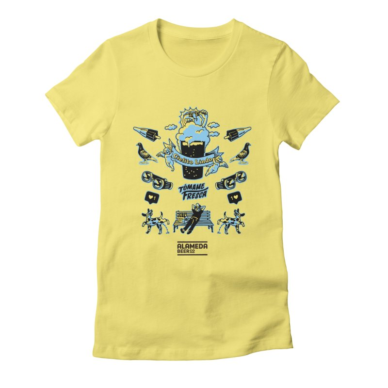 alameda Women's Fitted T-Shirt by PEIPER's Artist Shop