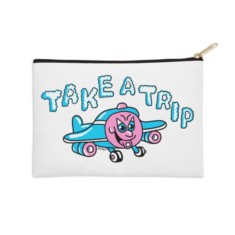 take a trip Accessories Zip Pouch by PEIPER's Artist Shop