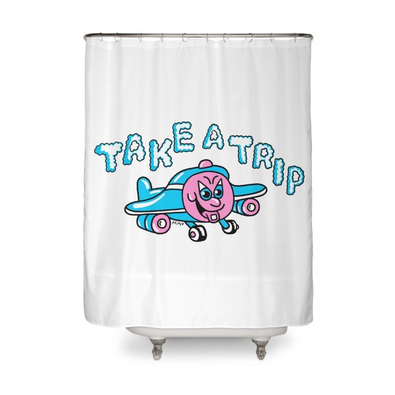 take a trip Home Shower Curtain by PEIPER's Artist Shop