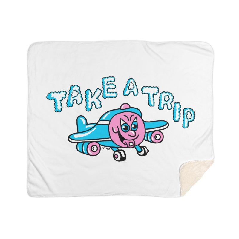 take a trip Home Sherpa Blanket Blanket by PEIPER's Artist Shop