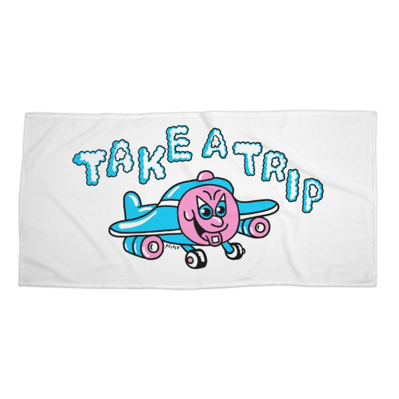 take a trip Accessories Beach Towel by PEIPER's Artist Shop