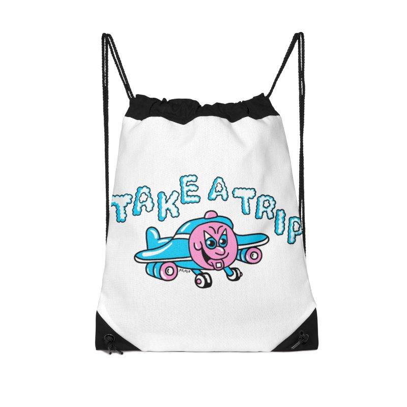 take a trip Accessories Drawstring Bag Bag by PEIPER's Artist Shop
