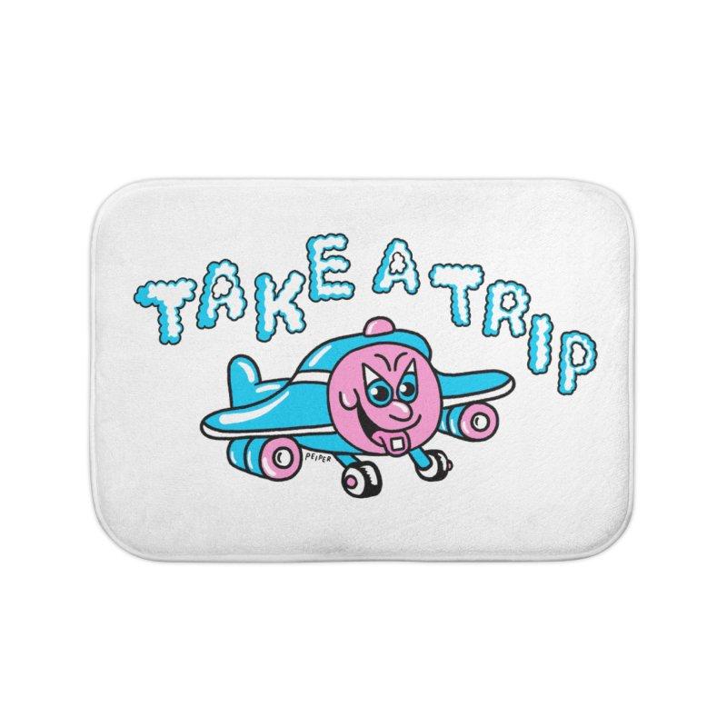 take a trip Home Bath Mat by PEIPER's Artist Shop