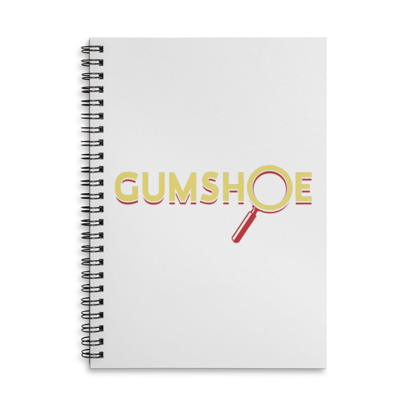 Gumshoe Logo Accessories Lined Spiral Notebook by pelgrane's Artist Shop