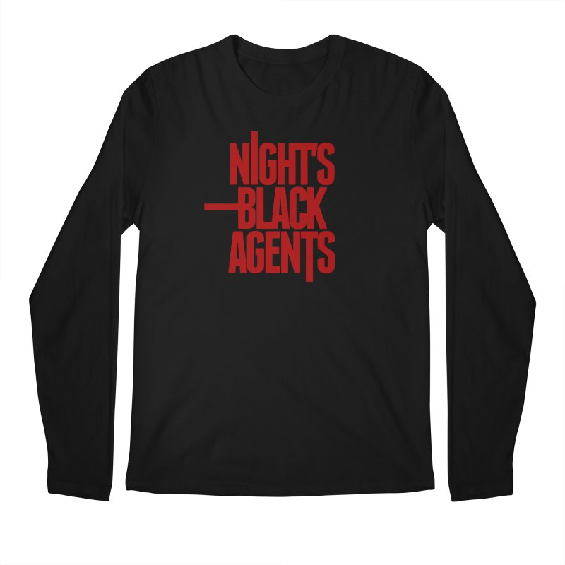Night's Black Agents (Red) Men's Regular Longsleeve T-Shirt by pelgrane's Artist Shop