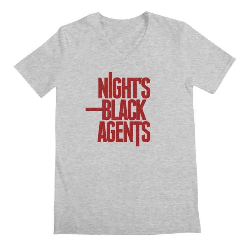 Night's Black Agents (Red) Men's Regular V-Neck by pelgrane's Artist Shop