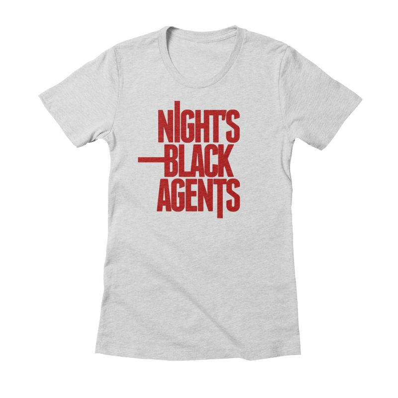 Night's Black Agents (Red) Women's Fitted T-Shirt by pelgrane's Artist Shop