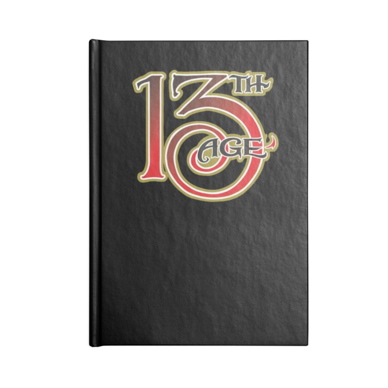 13th Age Logo Accessories Lined Journal Notebook by pelgrane's Artist Shop