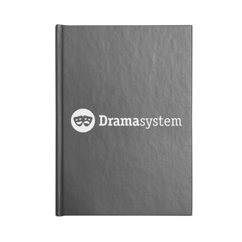 DramaSystem Logo Accessories Lined Journal Notebook by pelgrane's Artist Shop