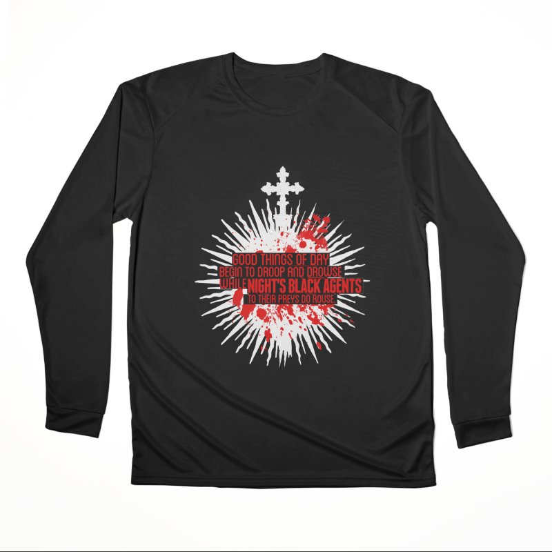 Night's Black Agents Shakespeare Design Men's Performance Longsleeve T-Shirt by pelgrane's Artist Shop