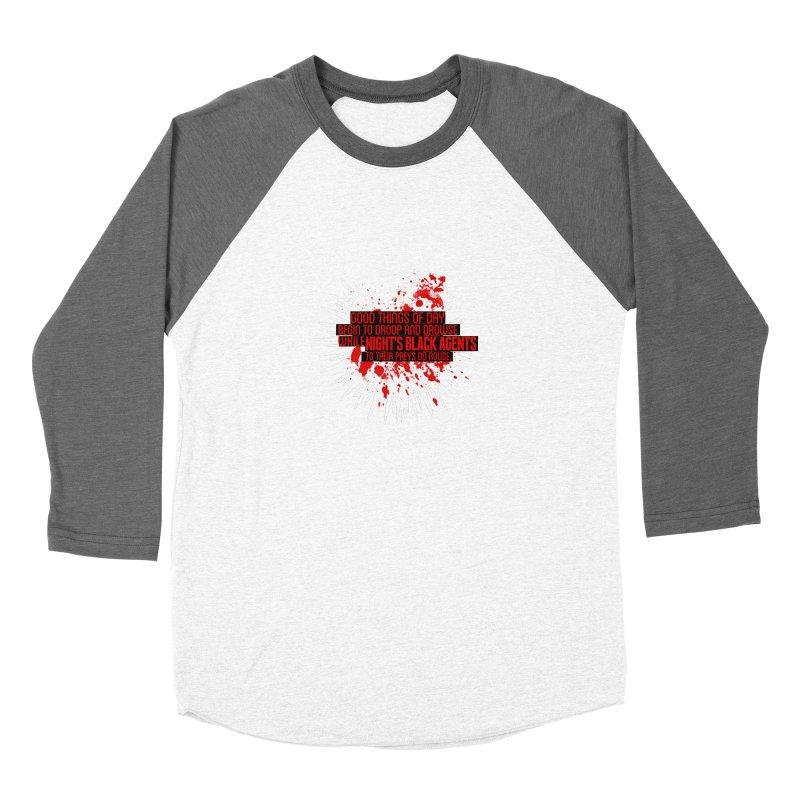 Night's Black Agents Shakespeare Design Men's Baseball Triblend Longsleeve T-Shirt by pelgrane's Artist Shop