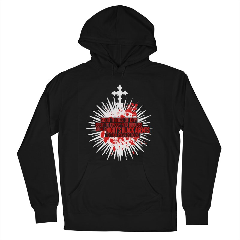 Night's Black Agents Shakespeare Design Women's French Terry Pullover Hoody by pelgrane's Artist Shop