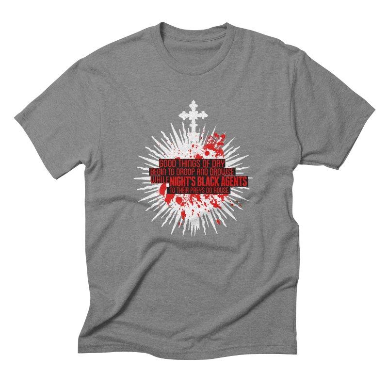 Night's Black Agents Shakespeare Design Men's Triblend T-Shirt by pelgrane's Artist Shop