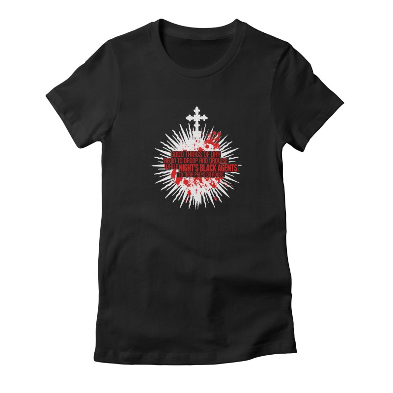 Night's Black Agents Shakespeare Design Women's Fitted T-Shirt by pelgrane's Artist Shop