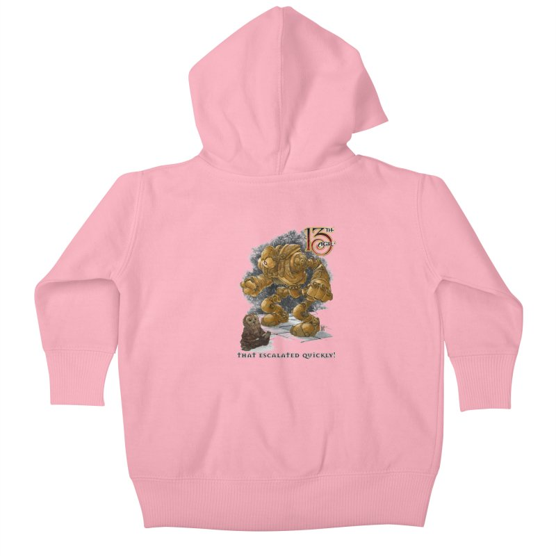That Escalated Quickly 1 Kids Baby Zip-Up Hoody by Pelgrane's Artist Shop