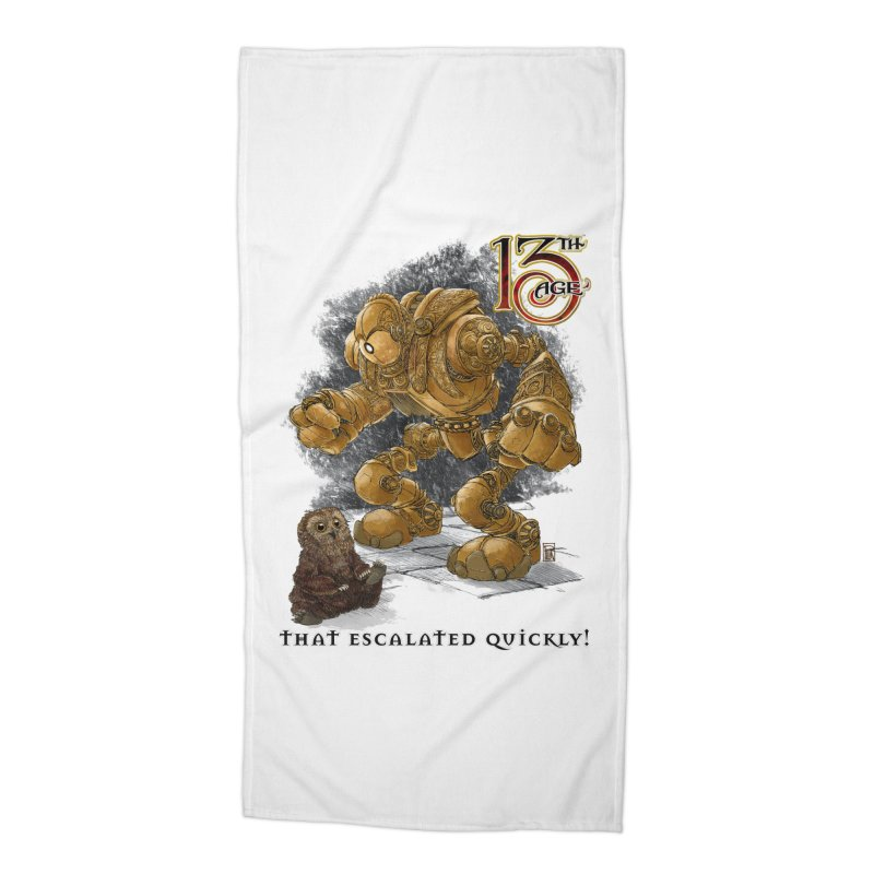 That Escalated Quickly 1 Accessories Beach Towel by Pelgrane's Artist Shop