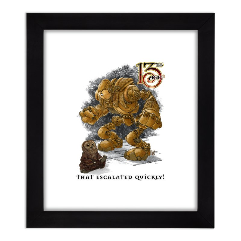 That Escalated Quickly 1 Home Framed Fine Art Print by Pelgrane's Artist Shop
