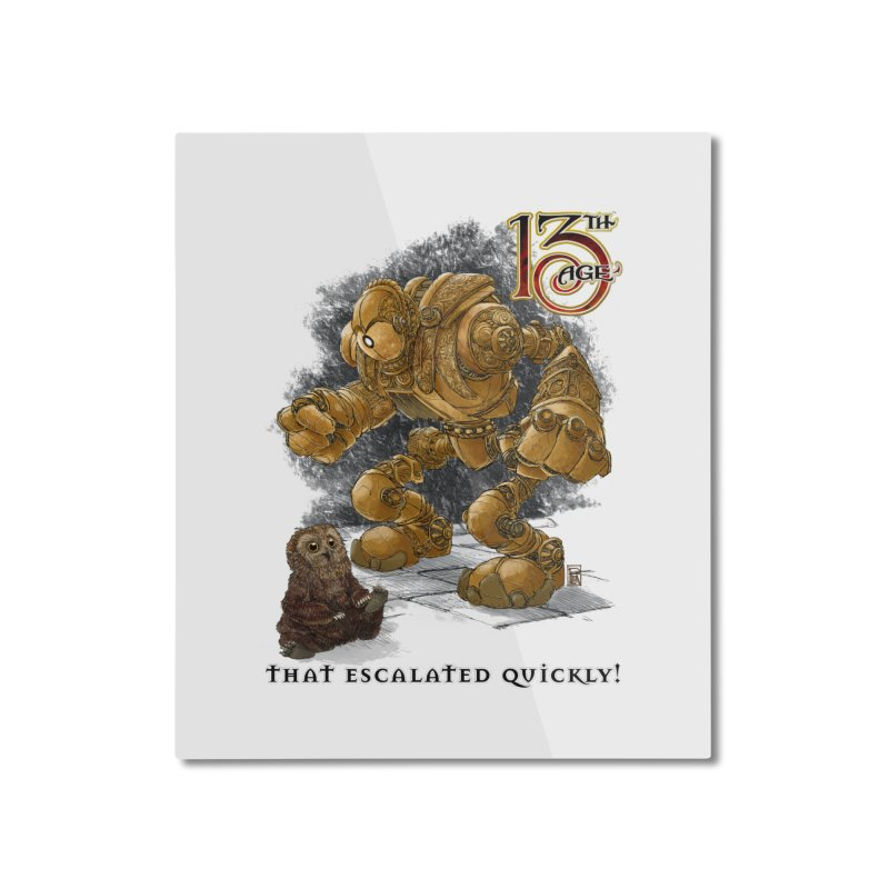 That Escalated Quickly 1 Home Mounted Aluminum Print by Pelgrane's Artist Shop