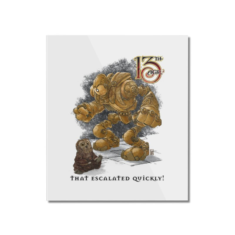 That Escalated Quickly 1 Home Mounted Acrylic Print by Pelgrane's Artist Shop