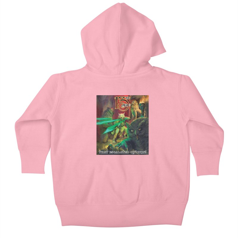 That Escalated Quickly 2 Kids Baby Zip-Up Hoody by Pelgrane's Artist Shop