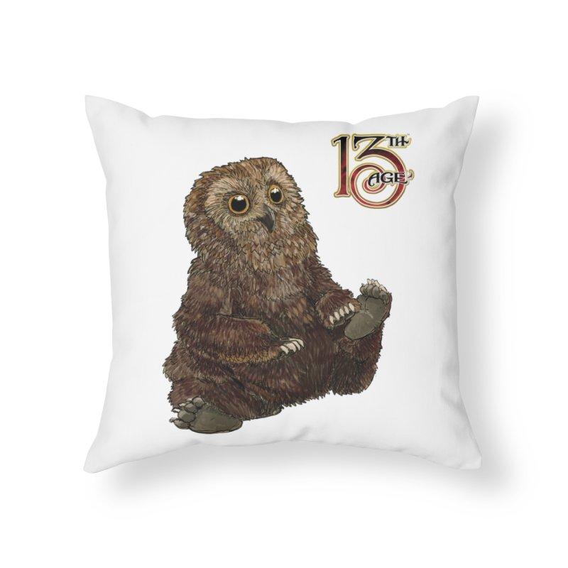 Grrowl Home Throw Pillow by Pelgrane's Artist Shop