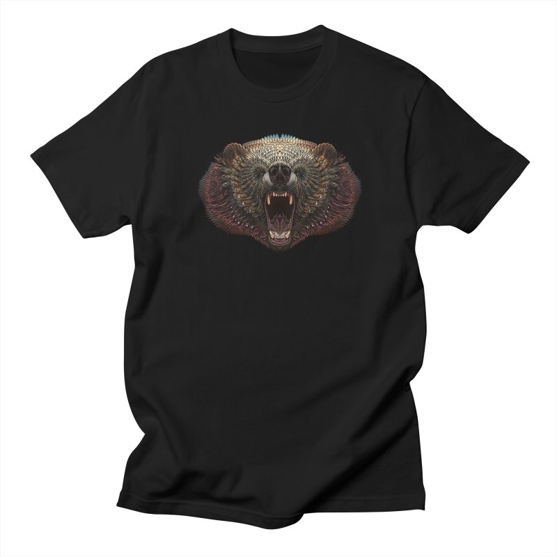 Grizzly Bear Men's Regular T-Shirt by Pellvetica