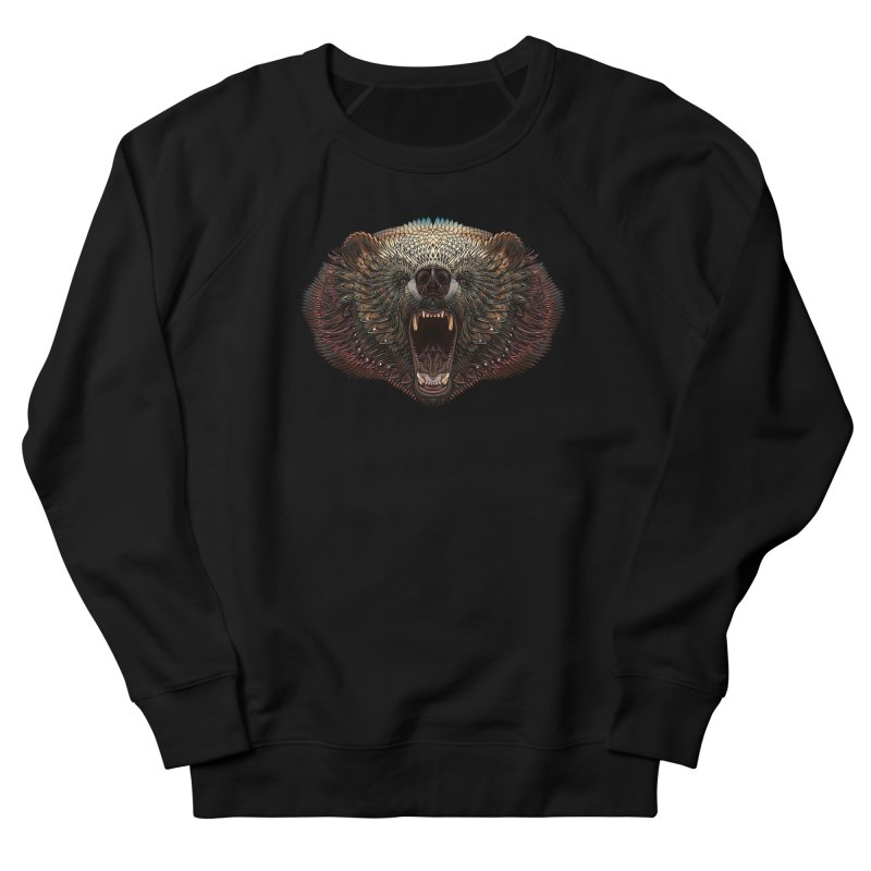 Grizzly Bear Men's French Terry Sweatshirt by Pellvetica