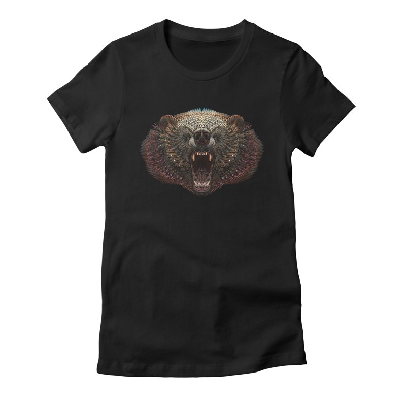 Grizzly Bear Women's Fitted T-Shirt by Pellvetica