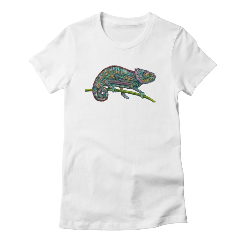 Chameleon Women's Fitted T-Shirt by Pellvetica