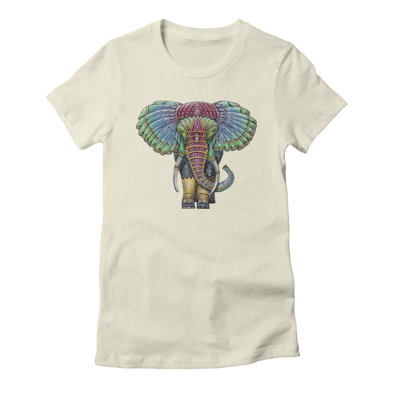 Elephant Women's Fitted T-Shirt by Pellvetica