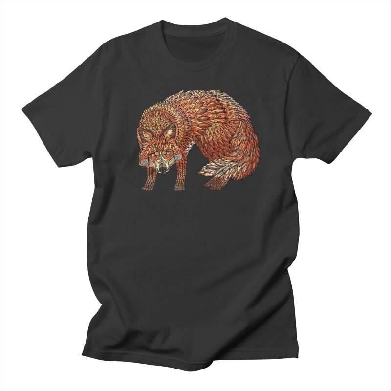 Red Fox Men's Regular T-Shirt by Pellvetica
