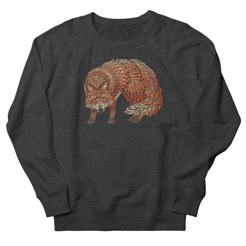 Red Fox Men's French Terry Sweatshirt by Pellvetica