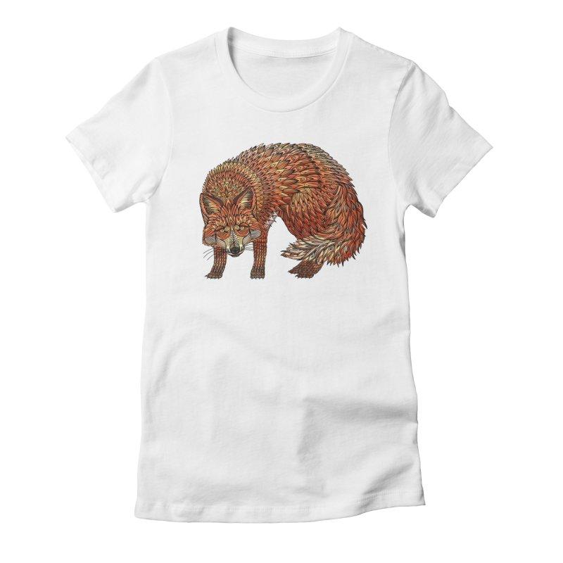 Red Fox Women's T-Shirt by Pellvetica