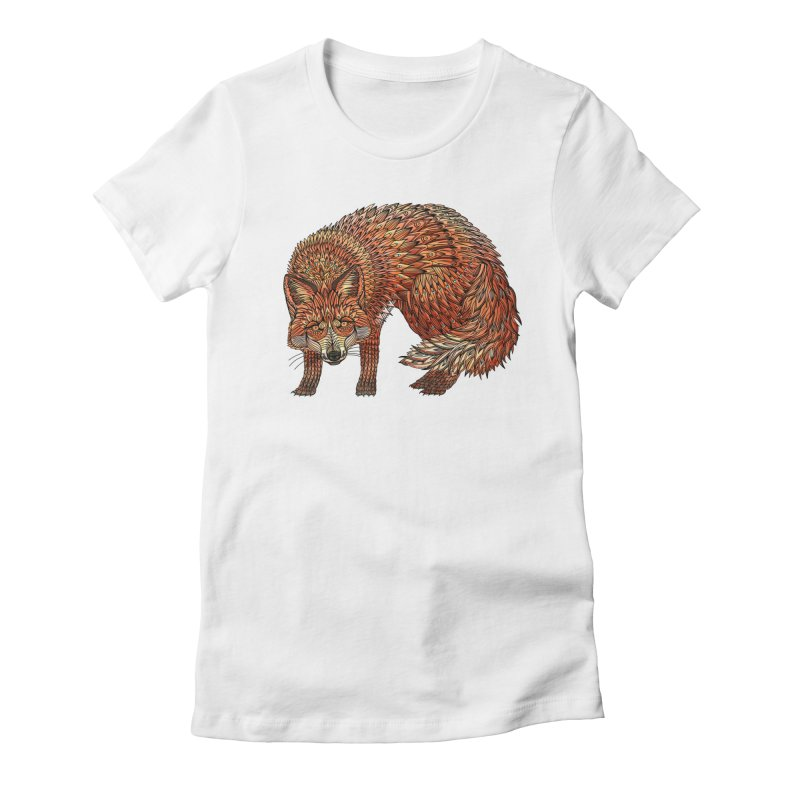 Red Fox Women's Fitted T-Shirt by Pellvetica