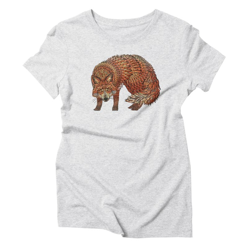 Red Fox Women's Triblend T-Shirt by Pellvetica