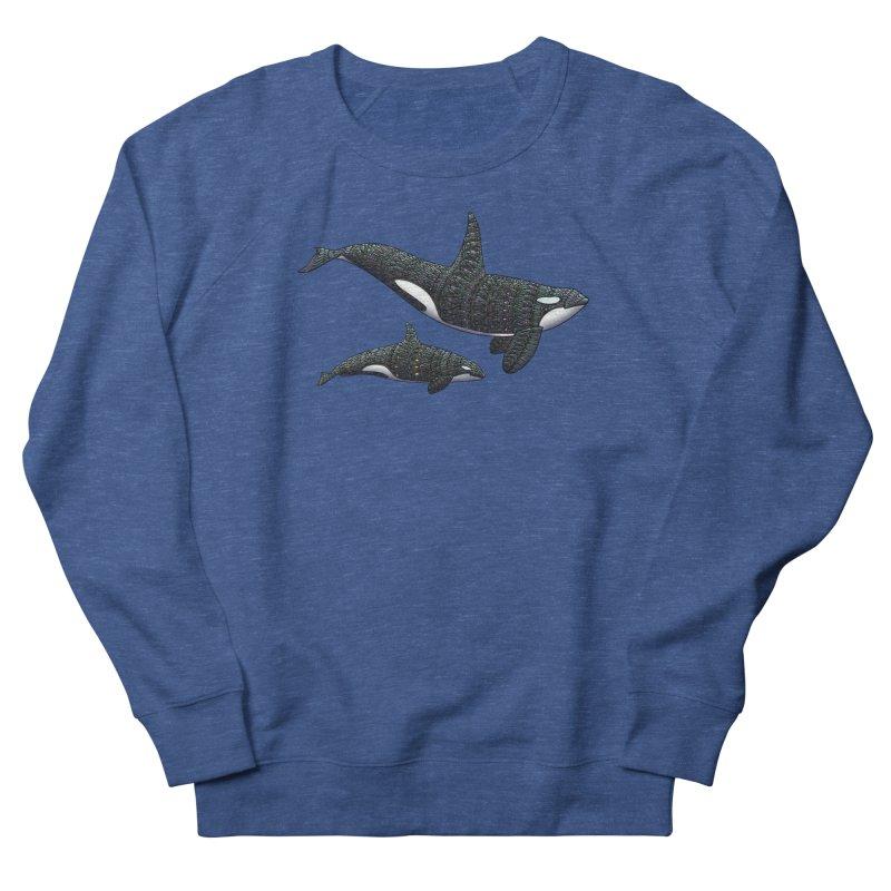 Orca Whales Men's Sweatshirt by Pellvetica