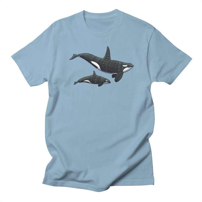 Orca Whales Men's T-Shirt by Pellvetica