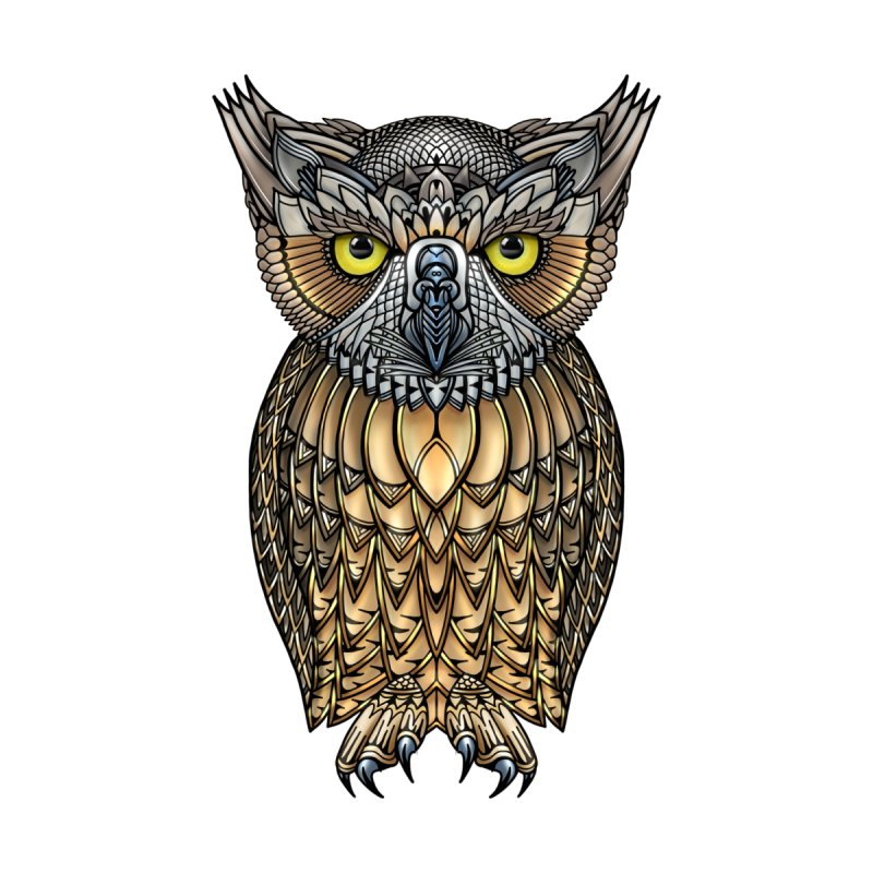 Great Horned Owl Men's T-Shirt by Pellvetica