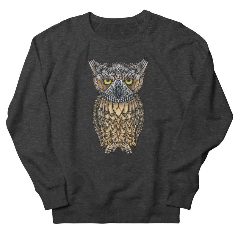 Great Horned Owl Men's Sweatshirt by Pellvetica