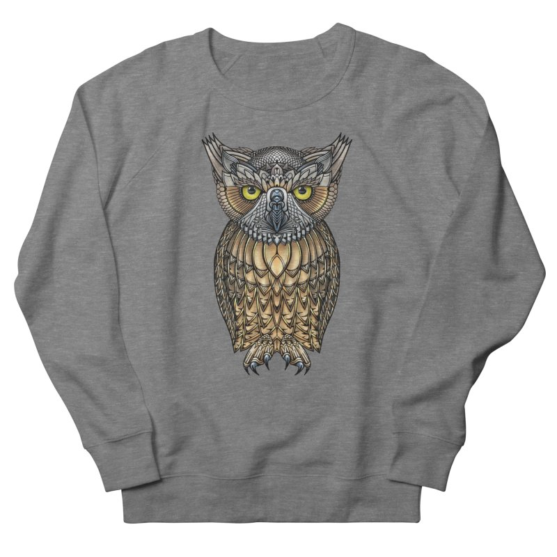 Great Horned Owl Women's French Terry Sweatshirt by Pellvetica