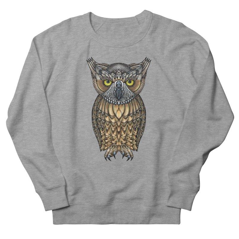 Great Horned Owl Men's French Terry Sweatshirt by Pellvetica