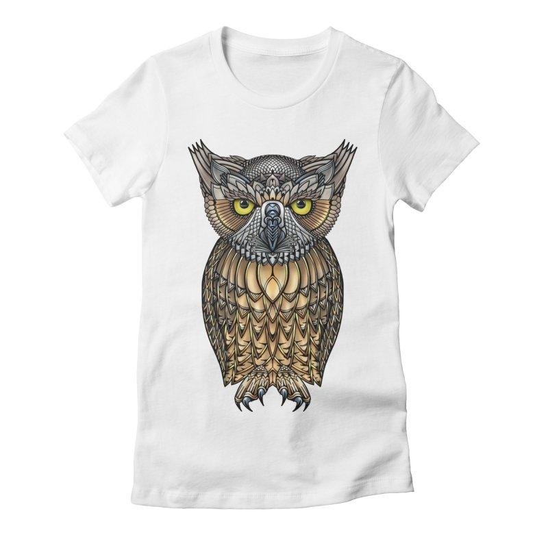 Great Horned Owl Women's T-Shirt by Pellvetica