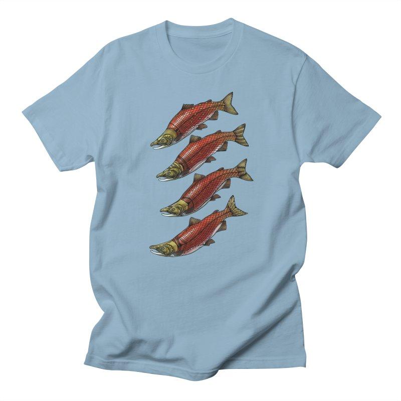 Sockeye Salmon Men's T-Shirt by Pellvetica
